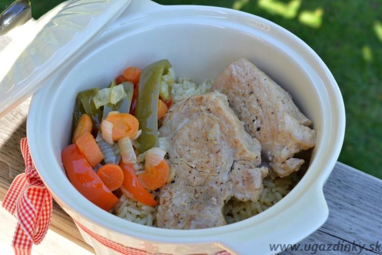 Bravčové medailónky s ryžou a maslovou zeleninou