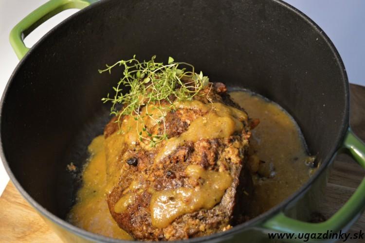 Pečené hovädzie mäso na tymiane