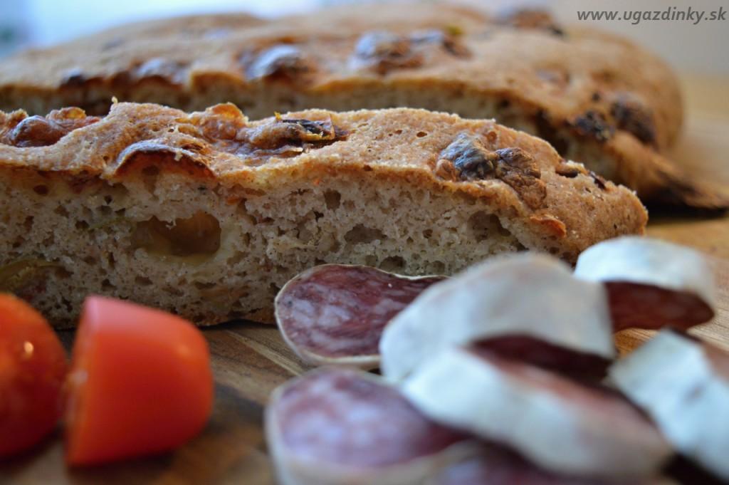 Bezlepkový olivový chlieb