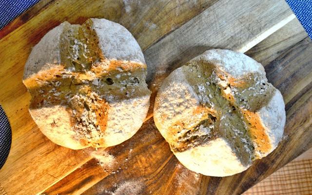 Bezlepkový sódový chlieb bez kysnutia