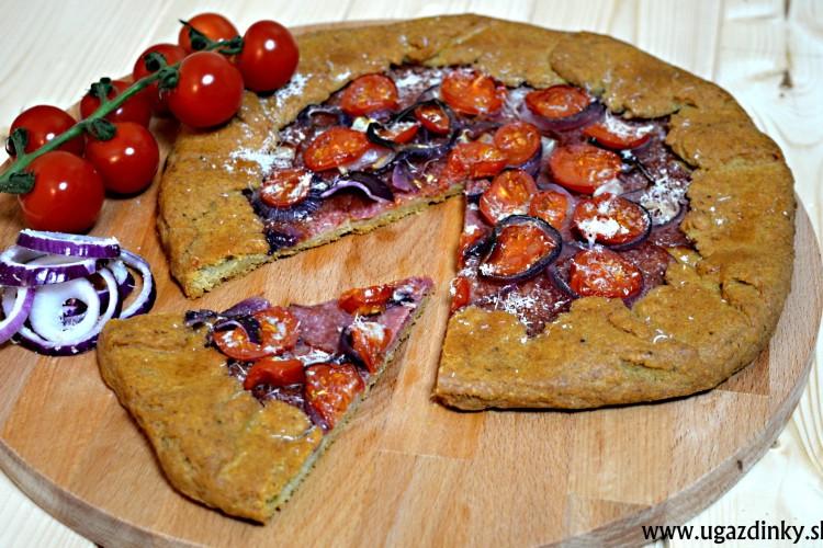 Bezlepkový pizzový koláč