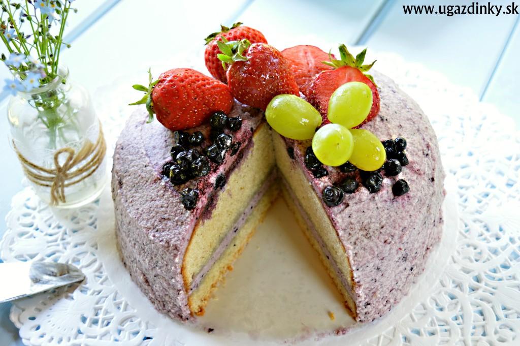 Bezlepková čučoriedková torta