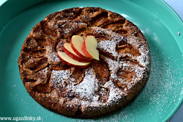 Krehký jablkový koláč bez lepku